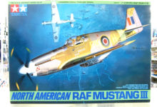 飛行機のキット作ります。【タミヤ 1/48 ノースアメリカン RAF マスタングIII】その1